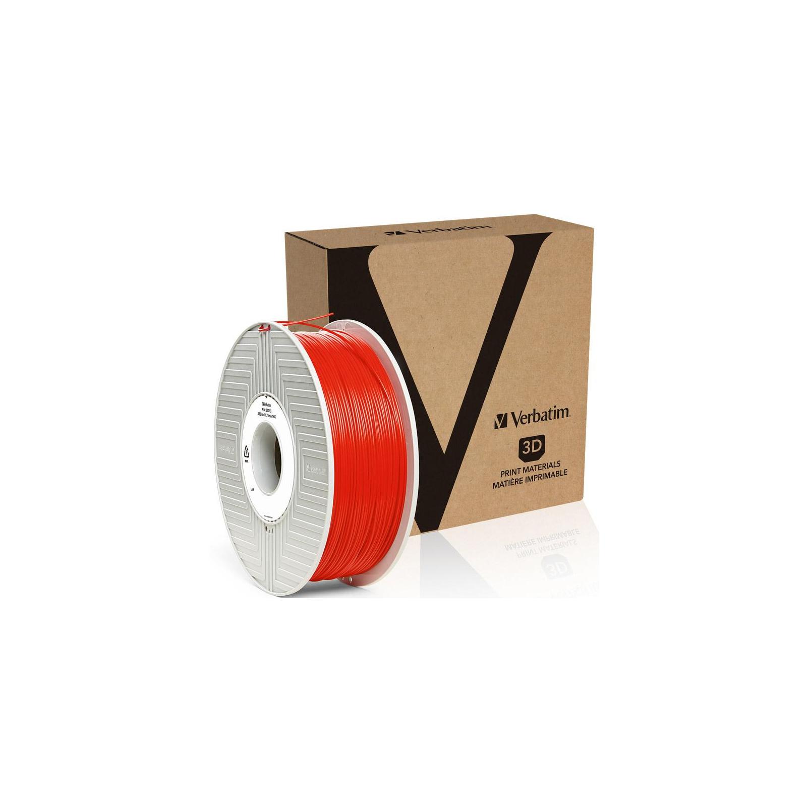 Пластик для 3D-принтера Verbatim ABS 1.75 mm red 1kg (55013) изображение 3