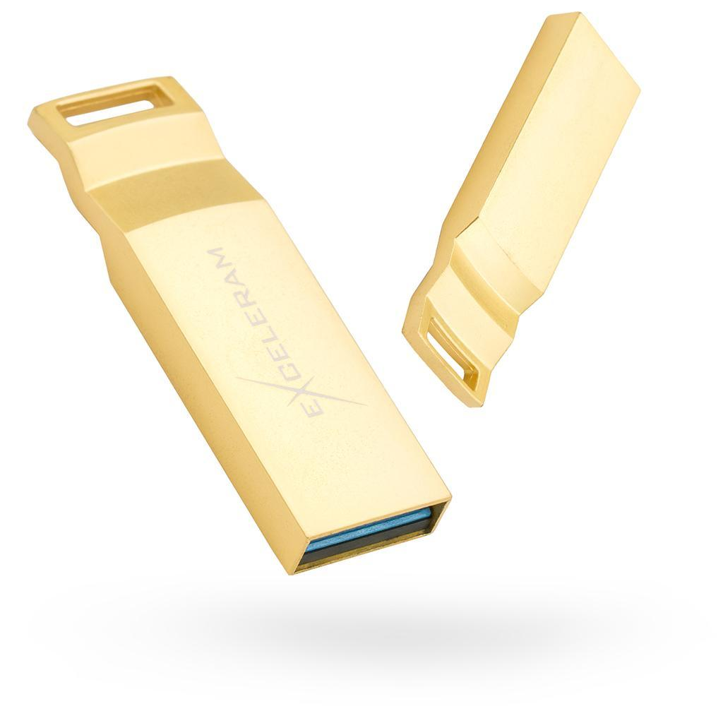 USB флеш накопитель eXceleram 128GB U2 Series	Gold USB 3.1 Gen 1 (EXP2U3U2G128)