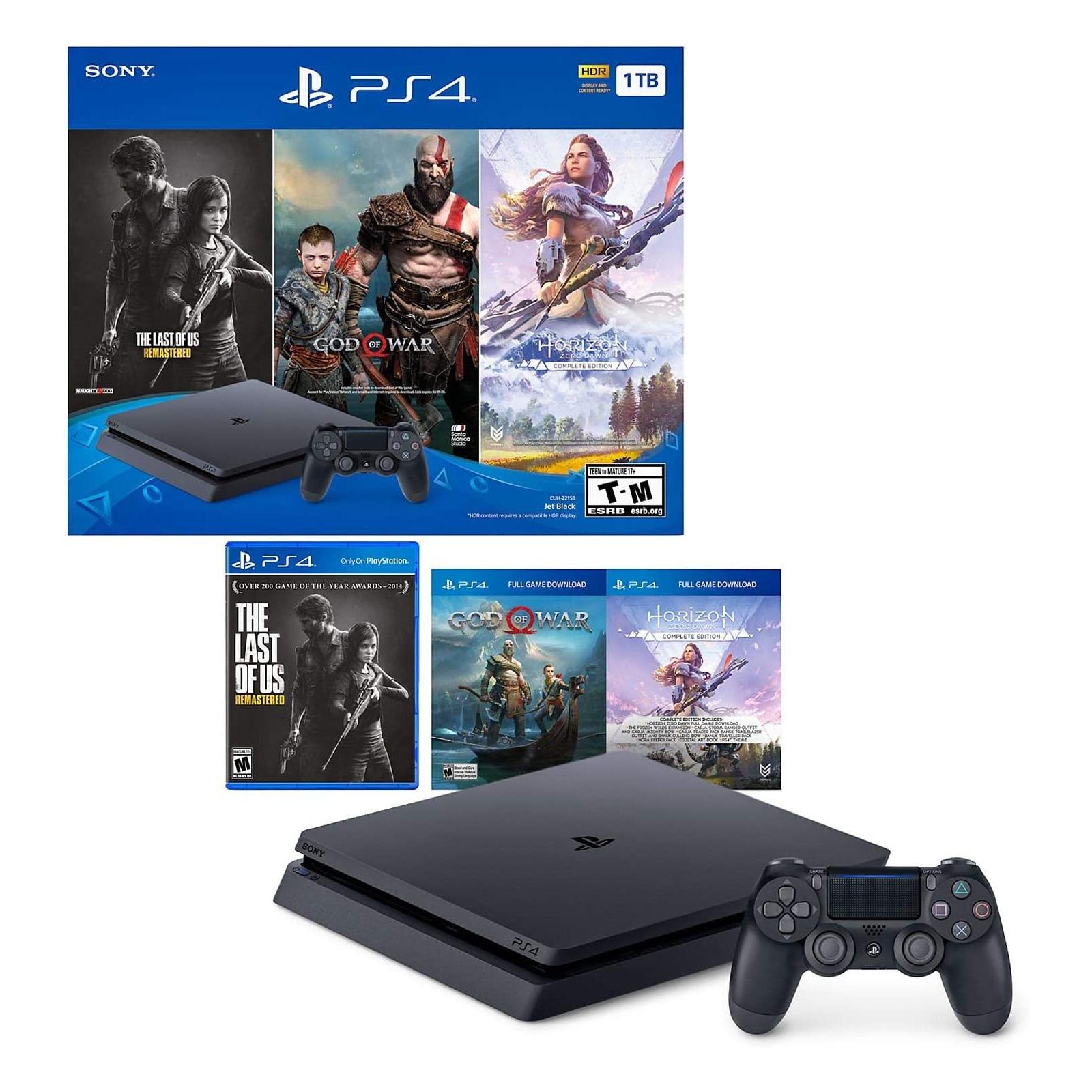 Игровая консоль Sony PlayStation 4 Slim 1TB HZD+DET+The Last of Us+PSPlus 3М (9926009) изображение 9