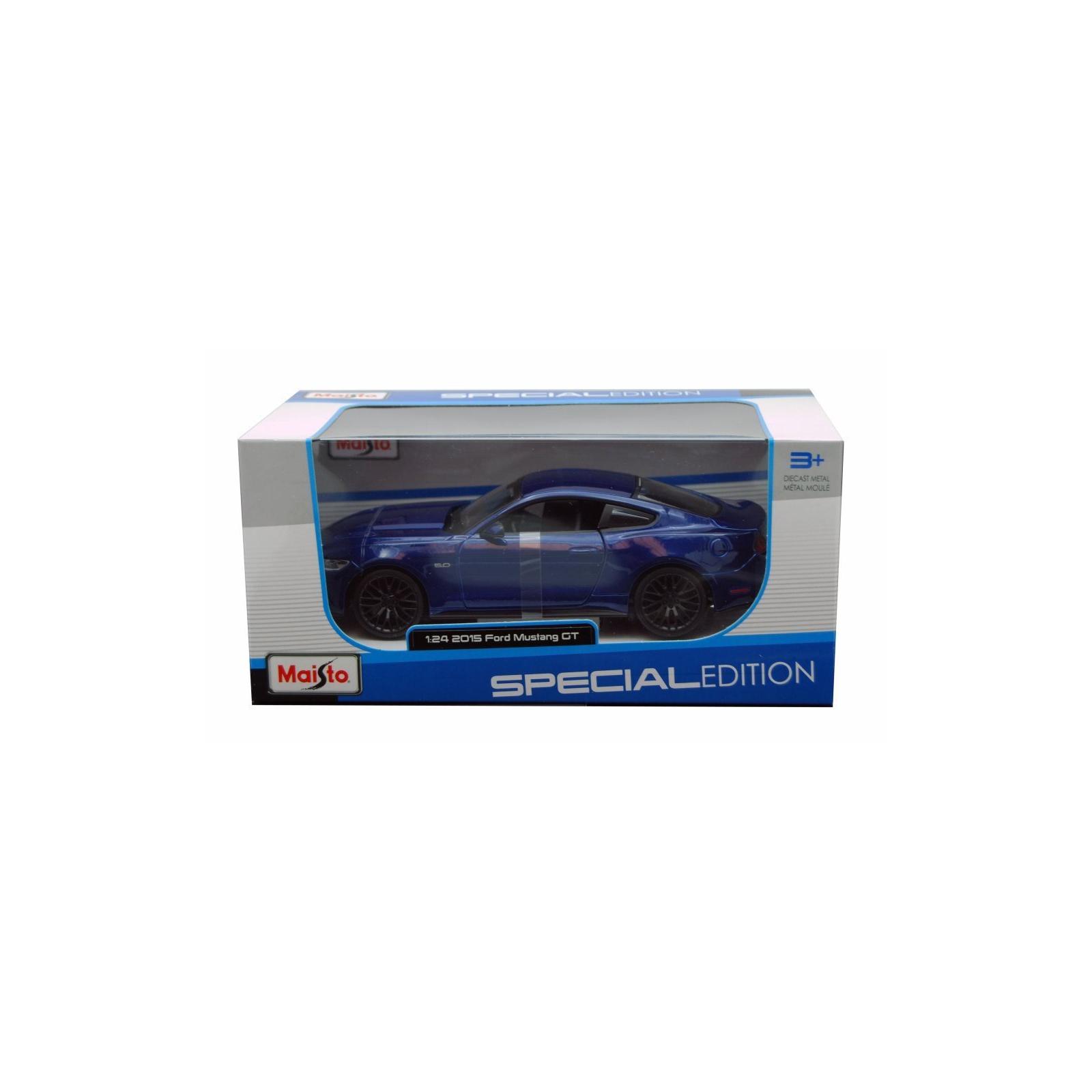 Машина Maisto Ford Mustang GT 2015 (1:24) синий (31508 blue) изображение 3