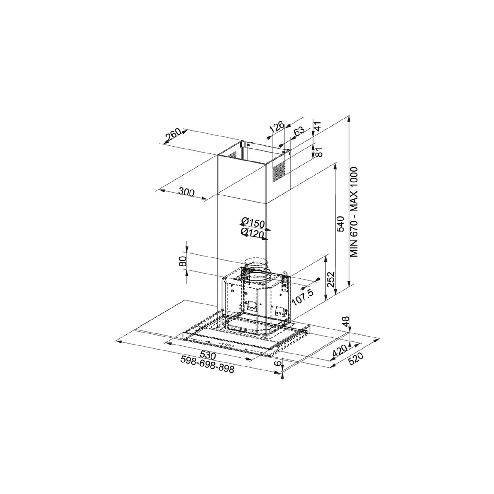 Вытяжка кухонная Franke Glass Linear FGL 905-P XS LED0 (325.0518.784) изображение 2