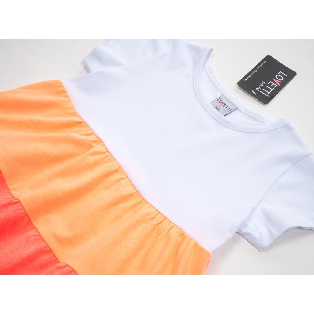 Платье Lovetti с оборками (9241-116G-orange) изображение 3