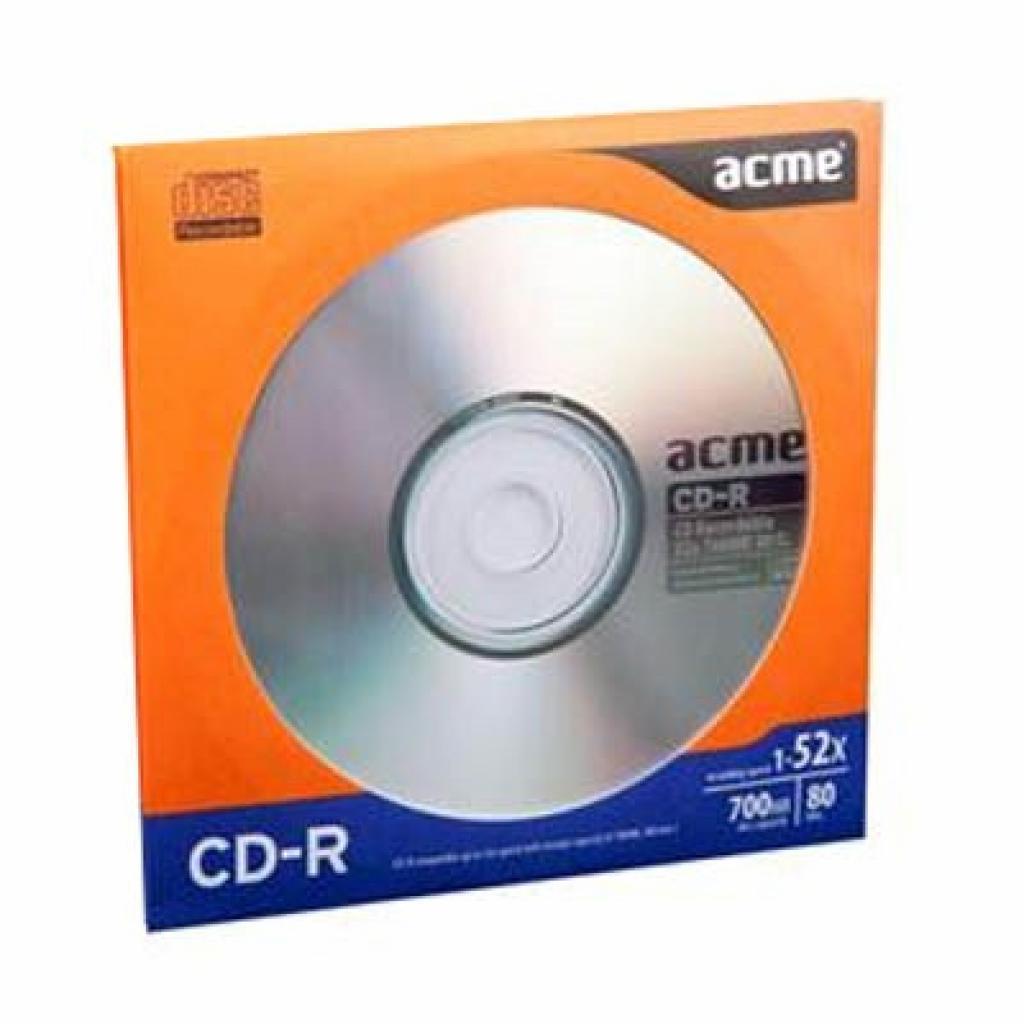 Диск CD ACME 700Mb 52x each in paper envelop 1шт (4770070854976)