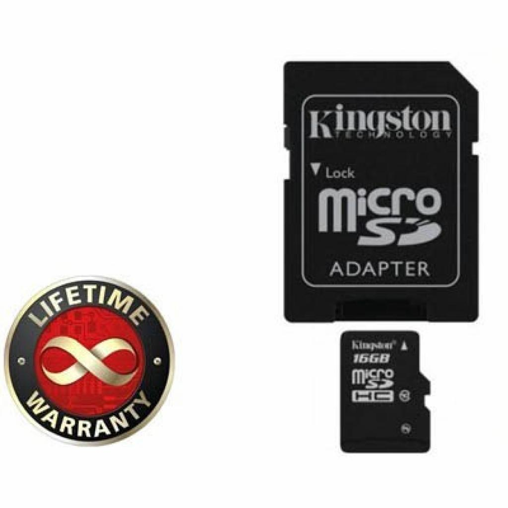Карта памяти 16Gb microSDHC class 10 Kingston (SDC10/16GB)