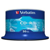 Диск CD Verbatim 700Mb 52x Cake box 50 Extra (43351)