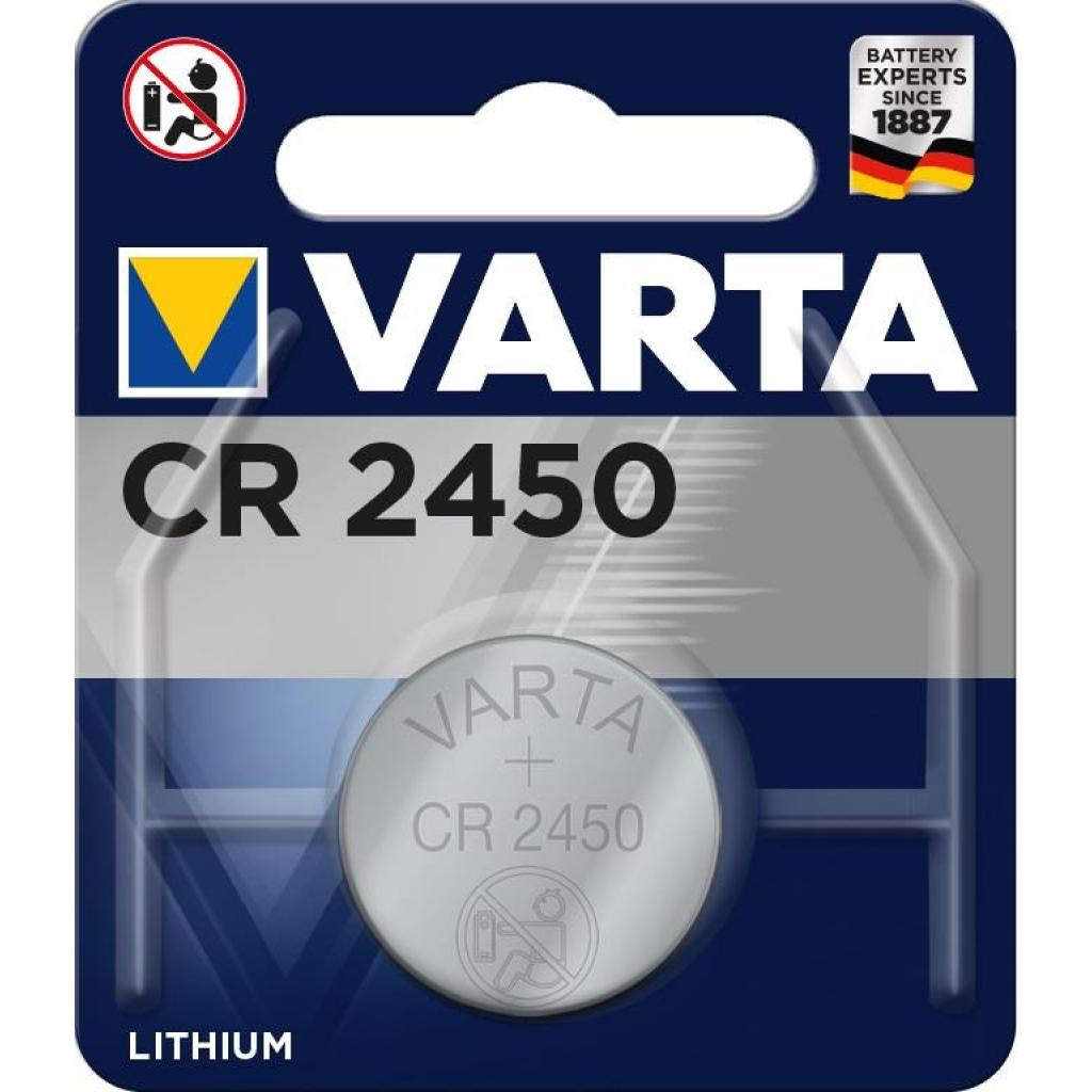 Батарейка Varta CR2450 Lithium (06450101401)