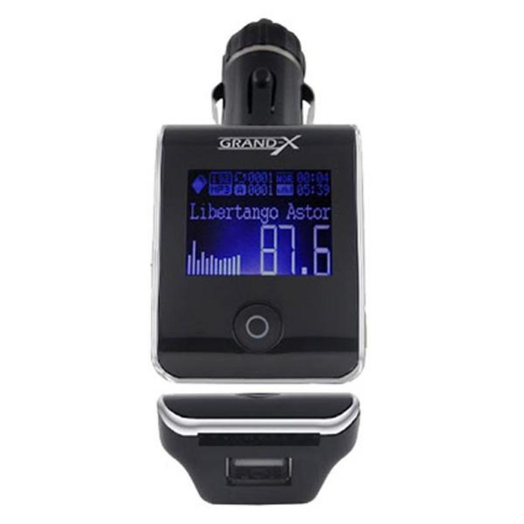Автомобильный MP3-FM модулятор Grand-X CUFM24GRX silver SD/USB (CUFM24GRX silver) изображение 2