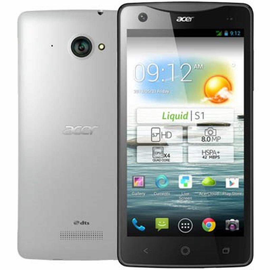 Мобильный телефон Acer Liquid S1 Duo S510 Black White (HM.HCJEU.001)