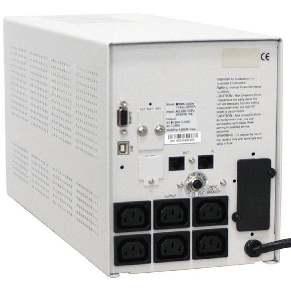 Источник бесперебойного питания Powercom SMK-800A-LCD (SMK-800G-8C0-0011) изображение 3
