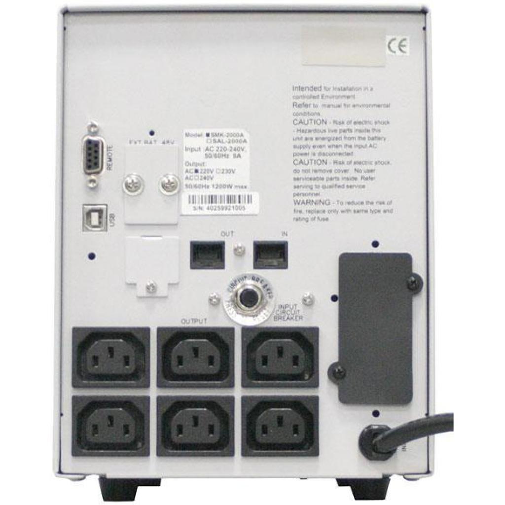 Источник бесперебойного питания Powercom SMK-800A-LCD (SMK-800G-8C0-0011) изображение 4