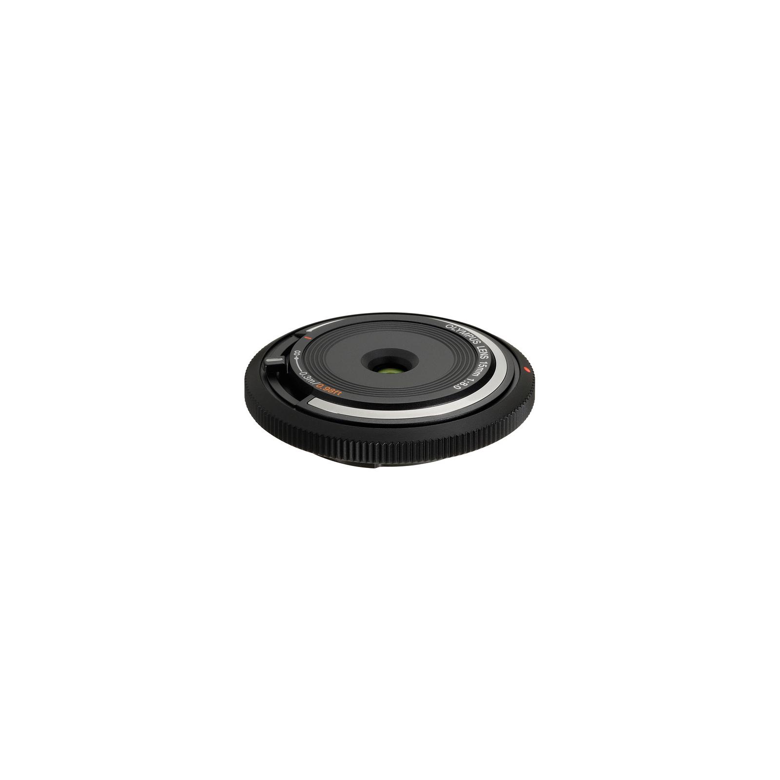 Объектив OLYMPUS BCL-1580 Body Cap Lens 15mm 1:8.0 Black (V325010BE000)