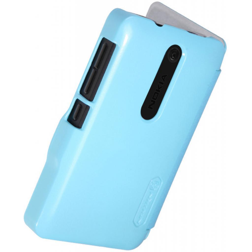 Чехол для моб. телефона NILLKIN для Nokia 501 /Fresh/ Leather/Blue (6076875) изображение 4