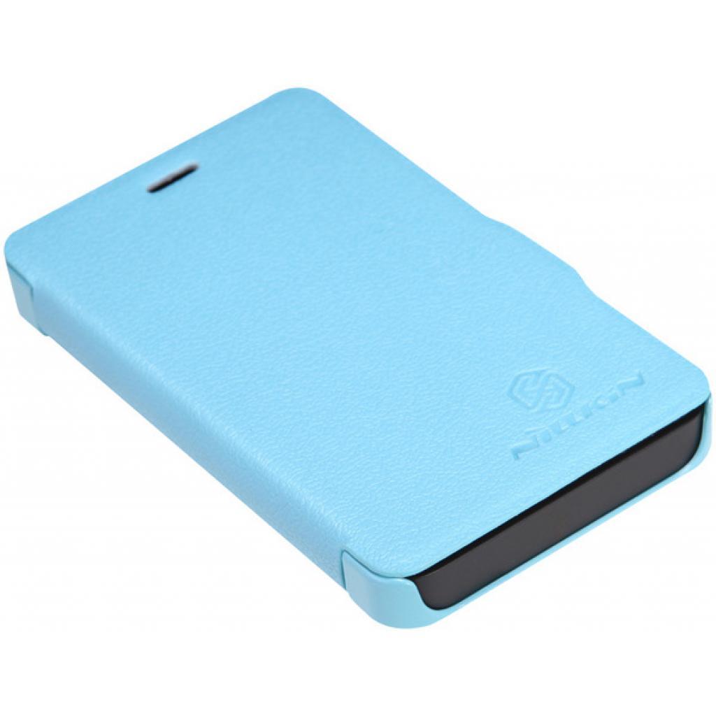 Чехол для моб. телефона NILLKIN для Nokia 501 /Fresh/ Leather/Blue (6076875) изображение 5