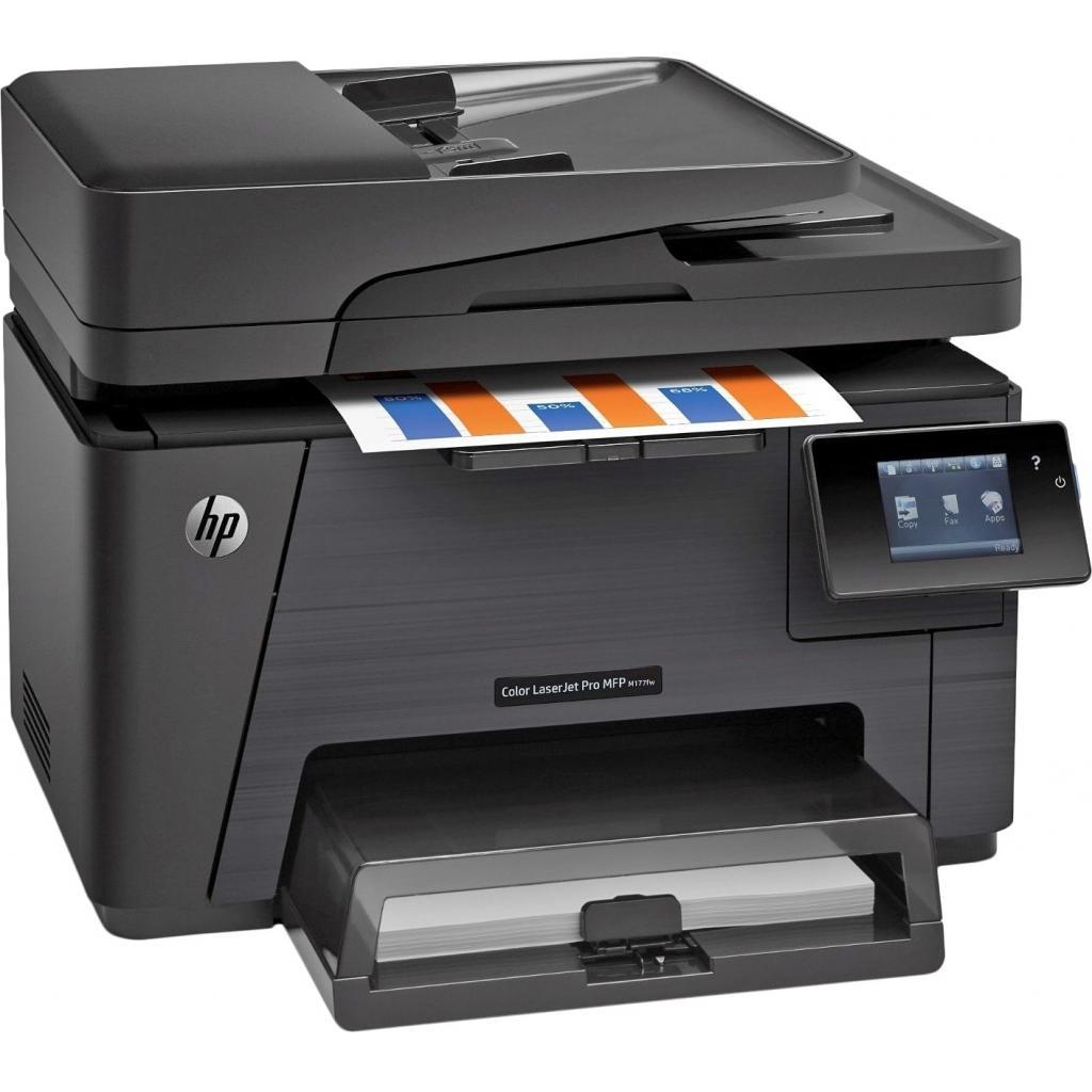 Многофункциональное устройство HP Color LJ Pro M177fw (CZ165A) изображение 2