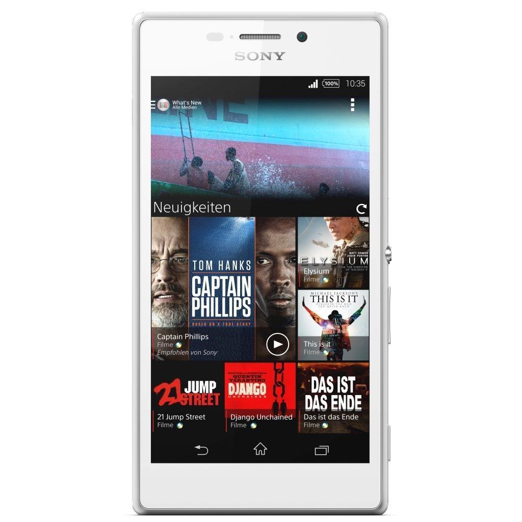 Мобильный телефон SONY D2305 White (Xperia M2) (1280-7395)