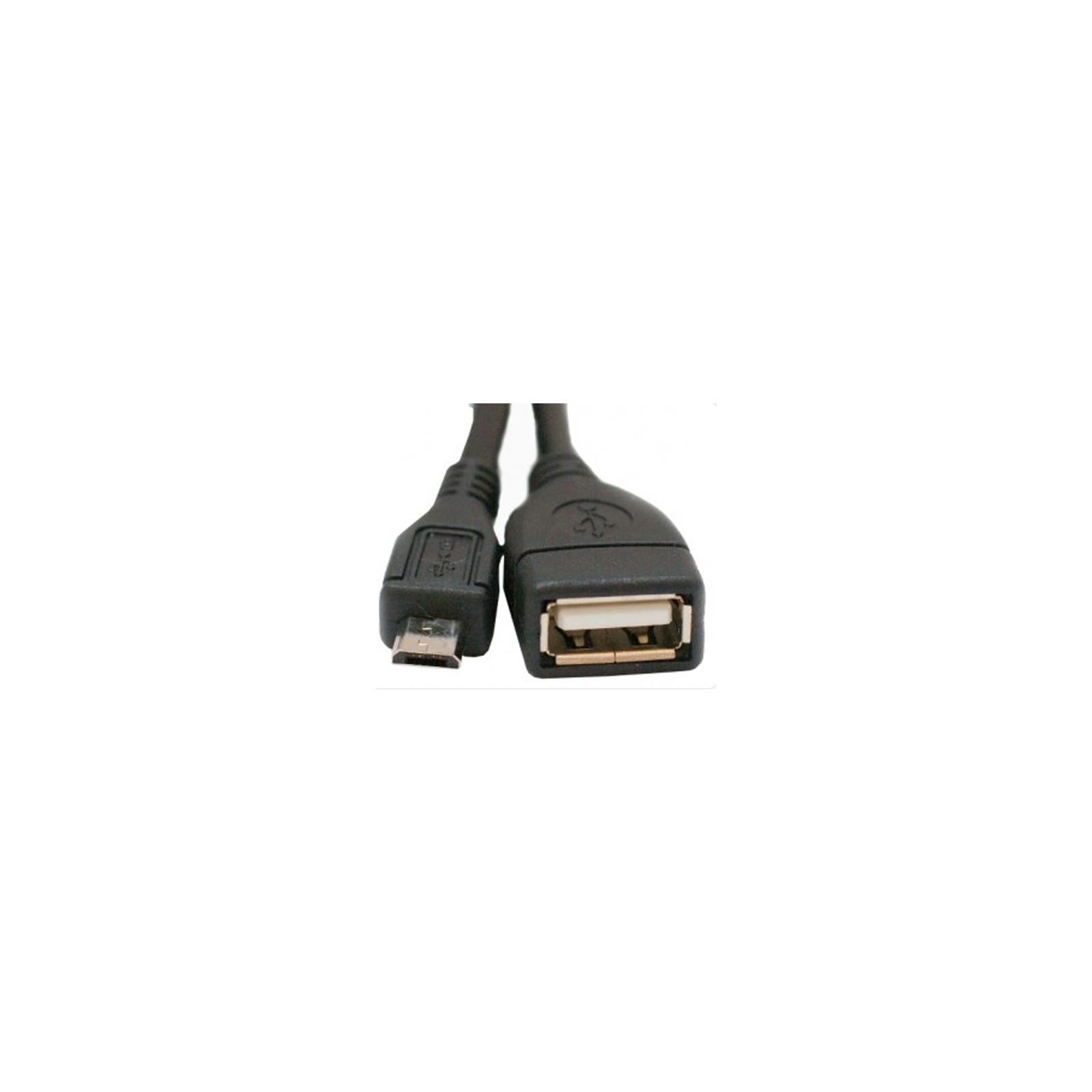 Дата кабель USB 2.0 Micro 5P to AF OTG 0.8m Atcom (16028)
