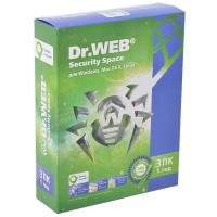 Антивирус Dr. Web Security Space 11, 3 ПК 1 год (BHW-B-12M-3-A3)