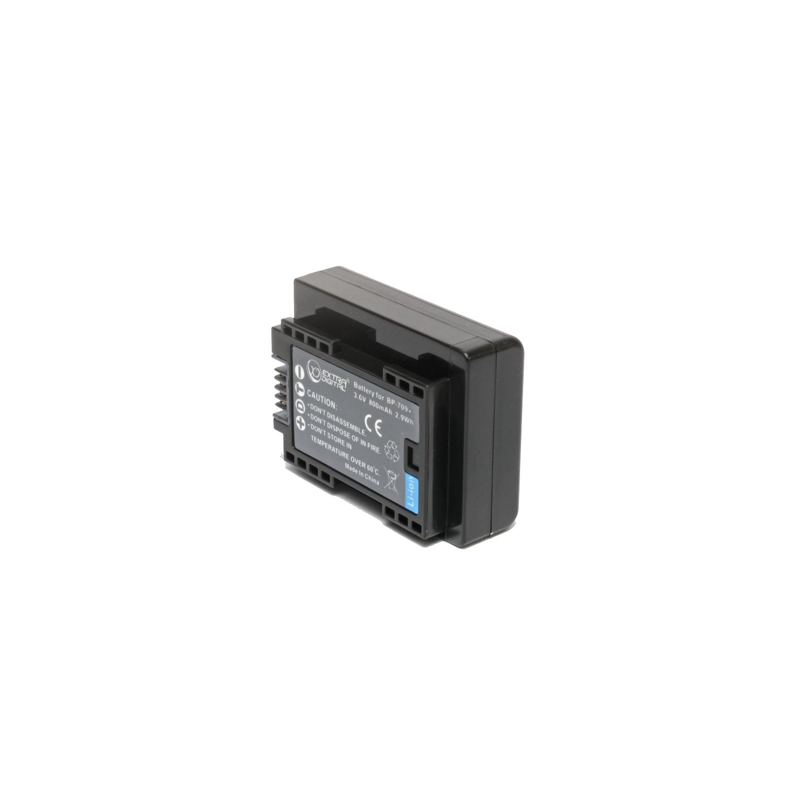 Аккумулятор к фото/видео EXTRADIGITAL Canon BP-709 (chip) (BDC1300) изображение 2