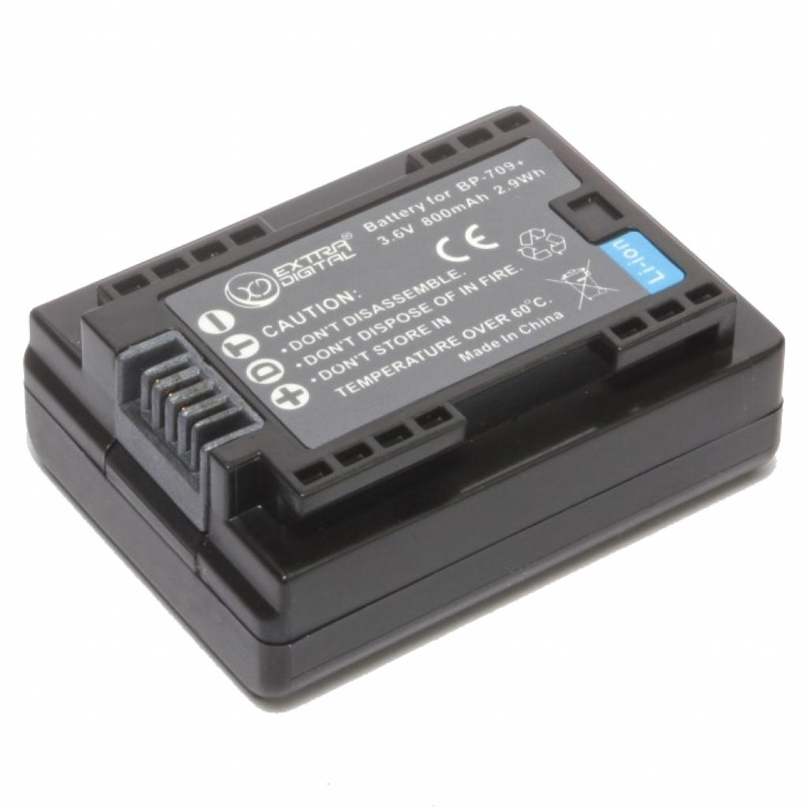 Аккумулятор к фото/видео EXTRADIGITAL Canon BP-709 (chip) (BDC1300) изображение 4