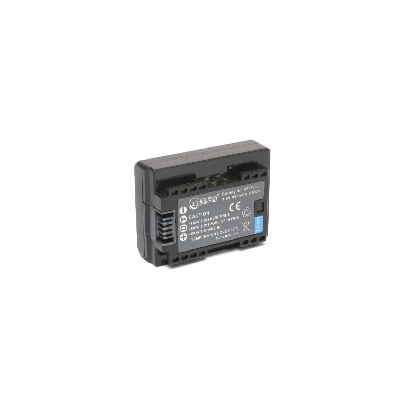 Аккумулятор к фото/видео EXTRADIGITAL Canon BP-709 (chip) (BDC1300)
