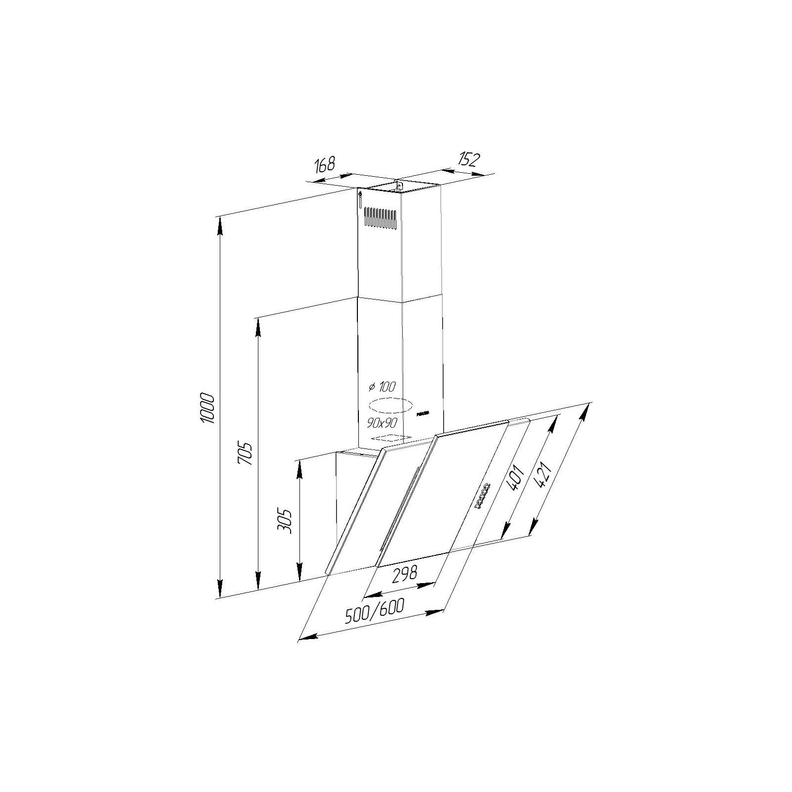 Вытяжка кухонная Pyramida KZ 60 BL изображение 8