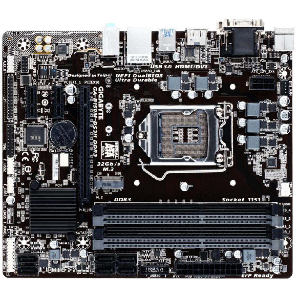 Материнская плата GIGABYTE GA-B150M-DS3H DDR3 изображение 2