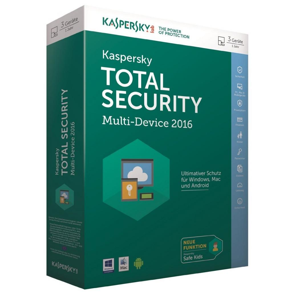 Антивирус Kaspersky Total Security (Multi-Device) 1+1 Device 1 year Base Box (KL1919OUBFS16)