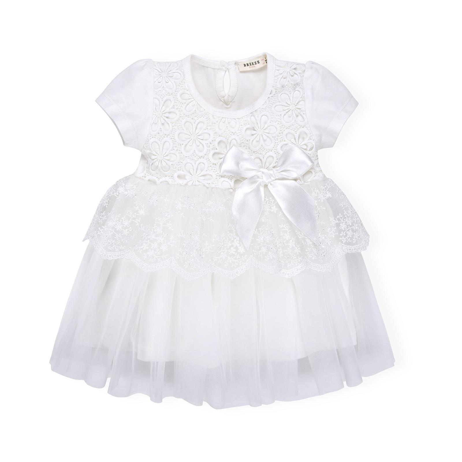 Платье Breeze кружевное с оборками (9011-86G-cream)