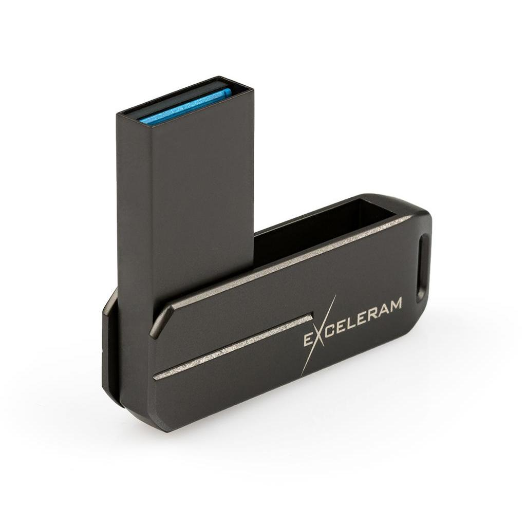 USB флеш накопитель eXceleram 128GB U3 Series	Dark USB 3.1 Gen 1 (EXP2U3U3D128) изображение 2