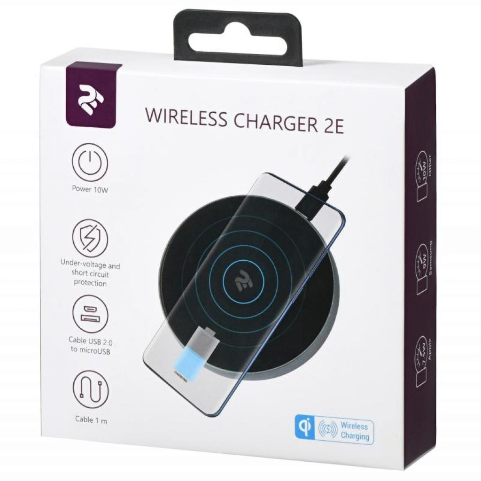Зарядний пристрій 2E Wireless Charging Pad, 10W, black (2E-WCQ01-02) зображення 5
