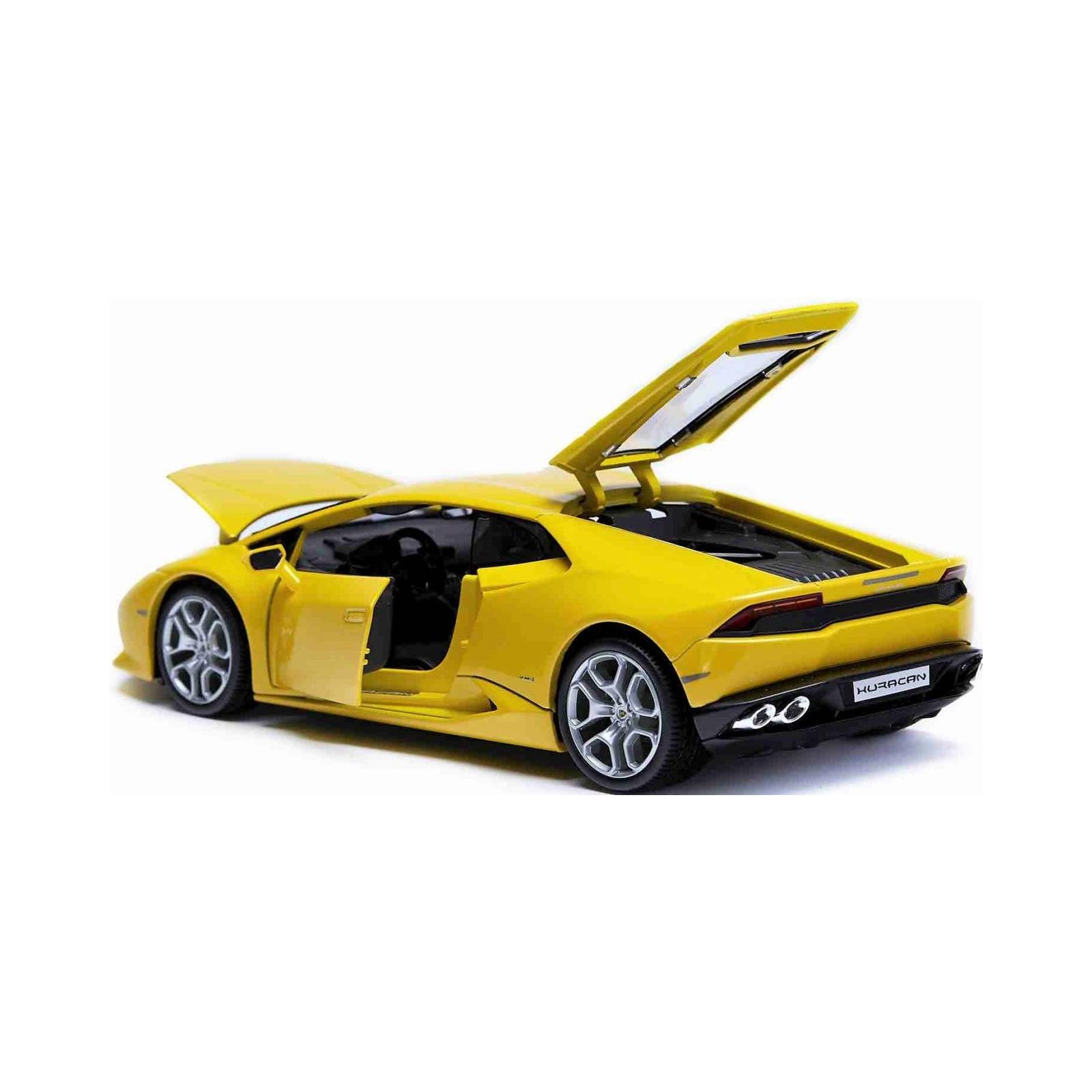 Машина Maisto Lamborghini Huracan LP 610-4 (1:24) желтый (31509 yellow) изображение 2