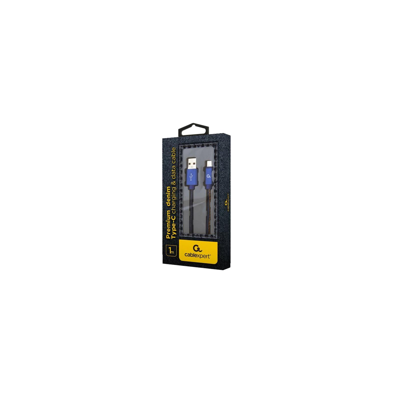 Дата кабель USB 2.0 AM to Type-C 1.0m Cablexpert (CC-USB2J-AMCM-1M-BL) изображение 2