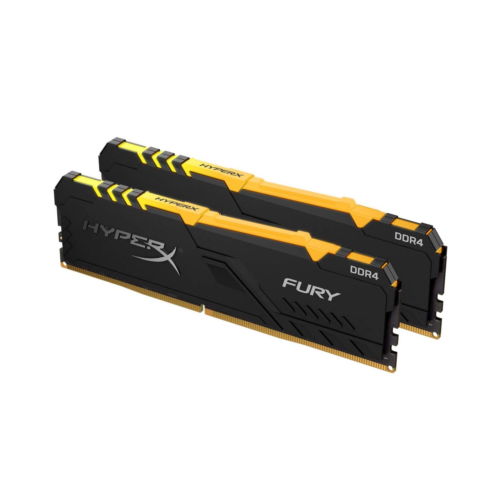 Модуль пам'яті для комп'ютера DDR4 16GB (2x8GB) 3600 MHz HyperX Fury RGB Kingston (HX436C17FB3AK2/16) зображення 2