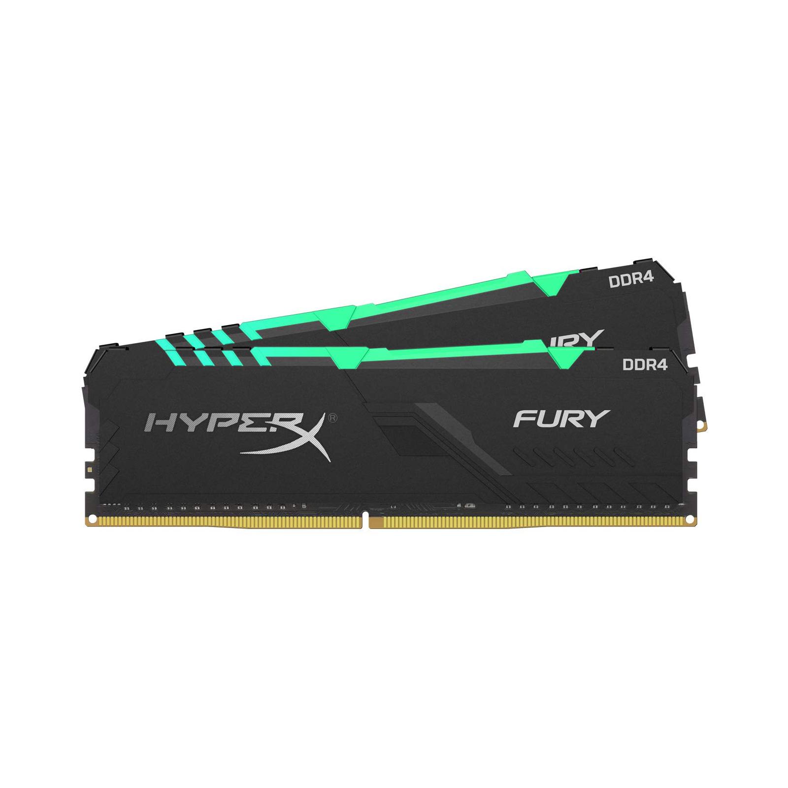 Модуль пам'яті для комп'ютера DDR4 16GB (2x8GB) 3600 MHz HyperX Fury RGB Kingston (HX436C17FB3AK2/16) зображення 4