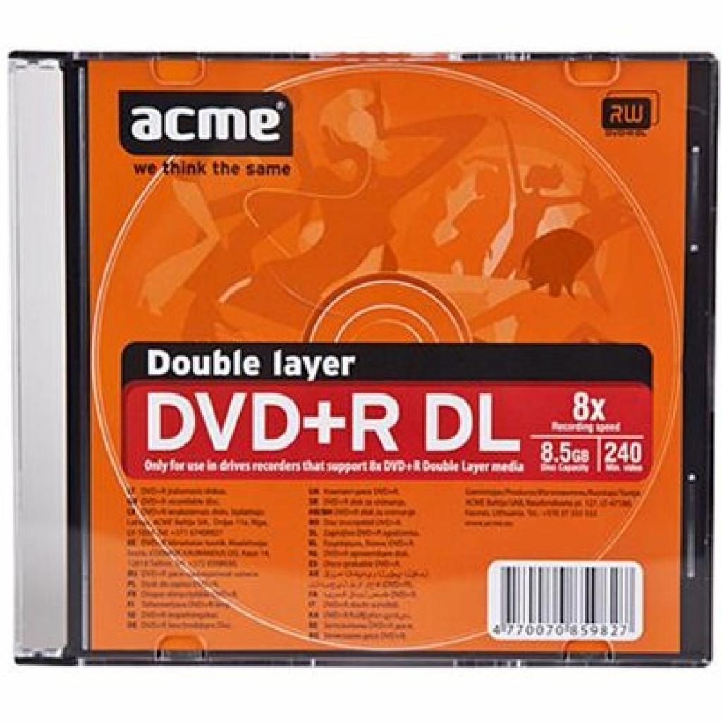 Диск DVD ACME 8.5Gb 8X Slim box 1шт (4770070859827)
