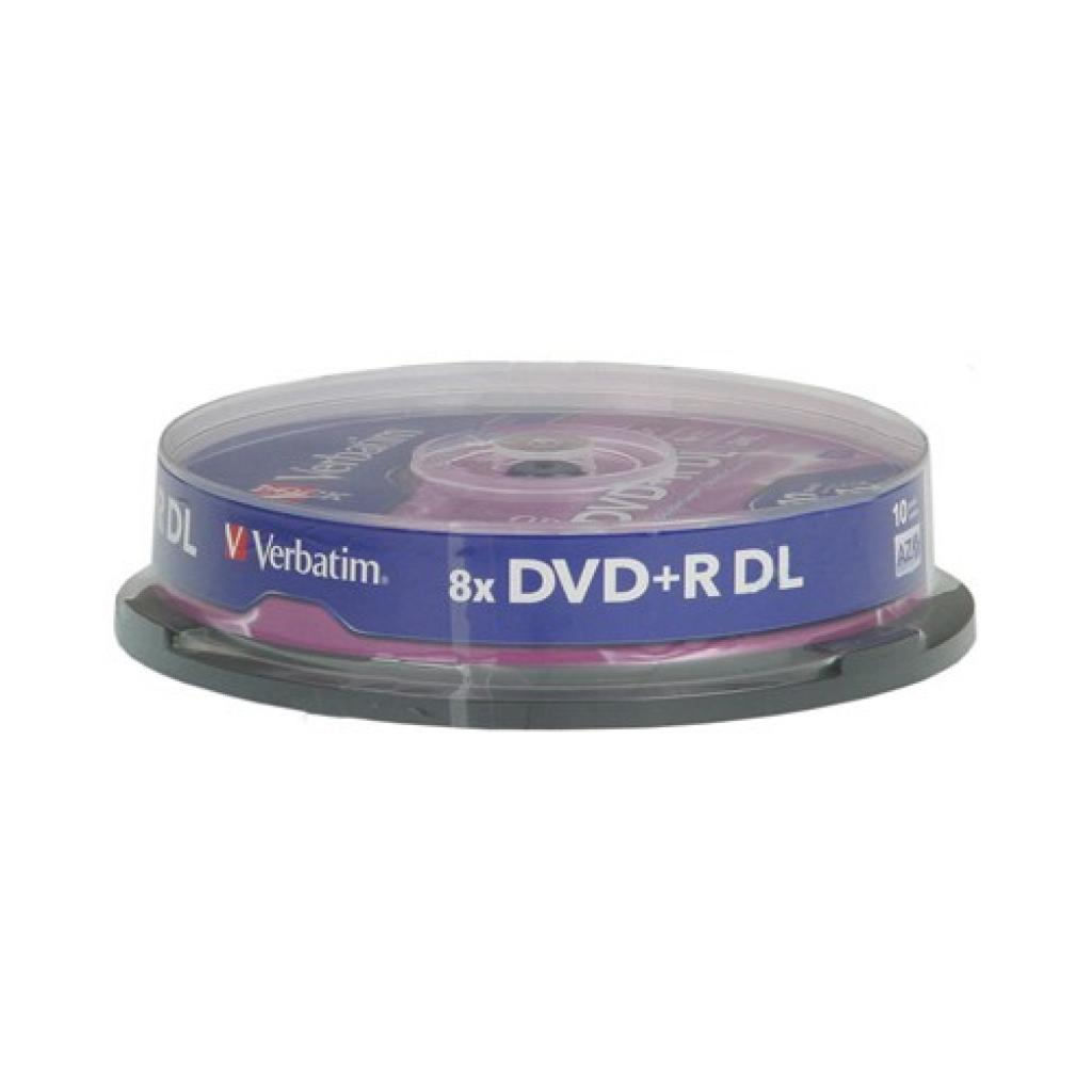 Диск DVD Verbatim 8.5Gb 8x CakeBox 10 шт Matte Silver (43666) изображение 2