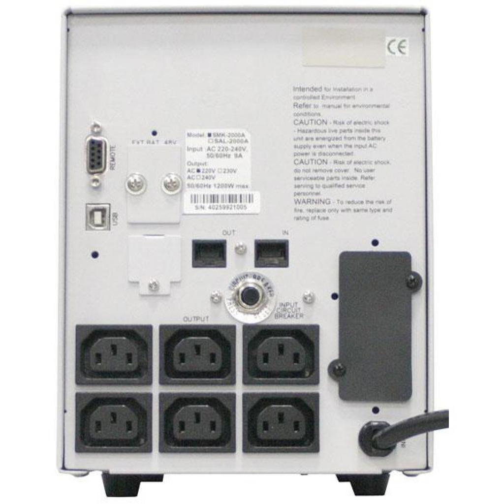 Источник бесперебойного питания Powercom SMK-1500A-LCD изображение 4