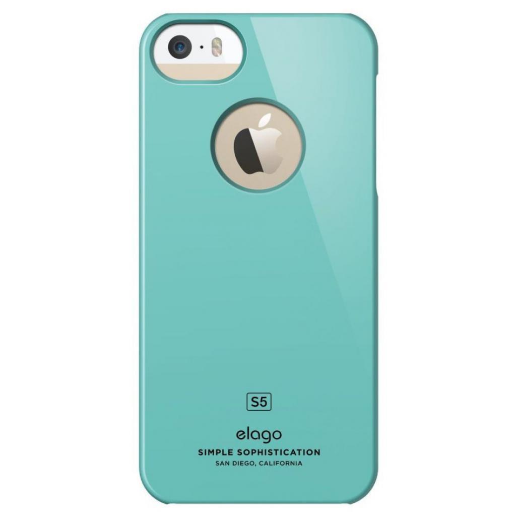 Чехол для моб. телефона ELAGO для iPhone 5/5S /Slim Fit Glossy/Coral Blue (ELS5SM-SFGD-RT) изображение 3