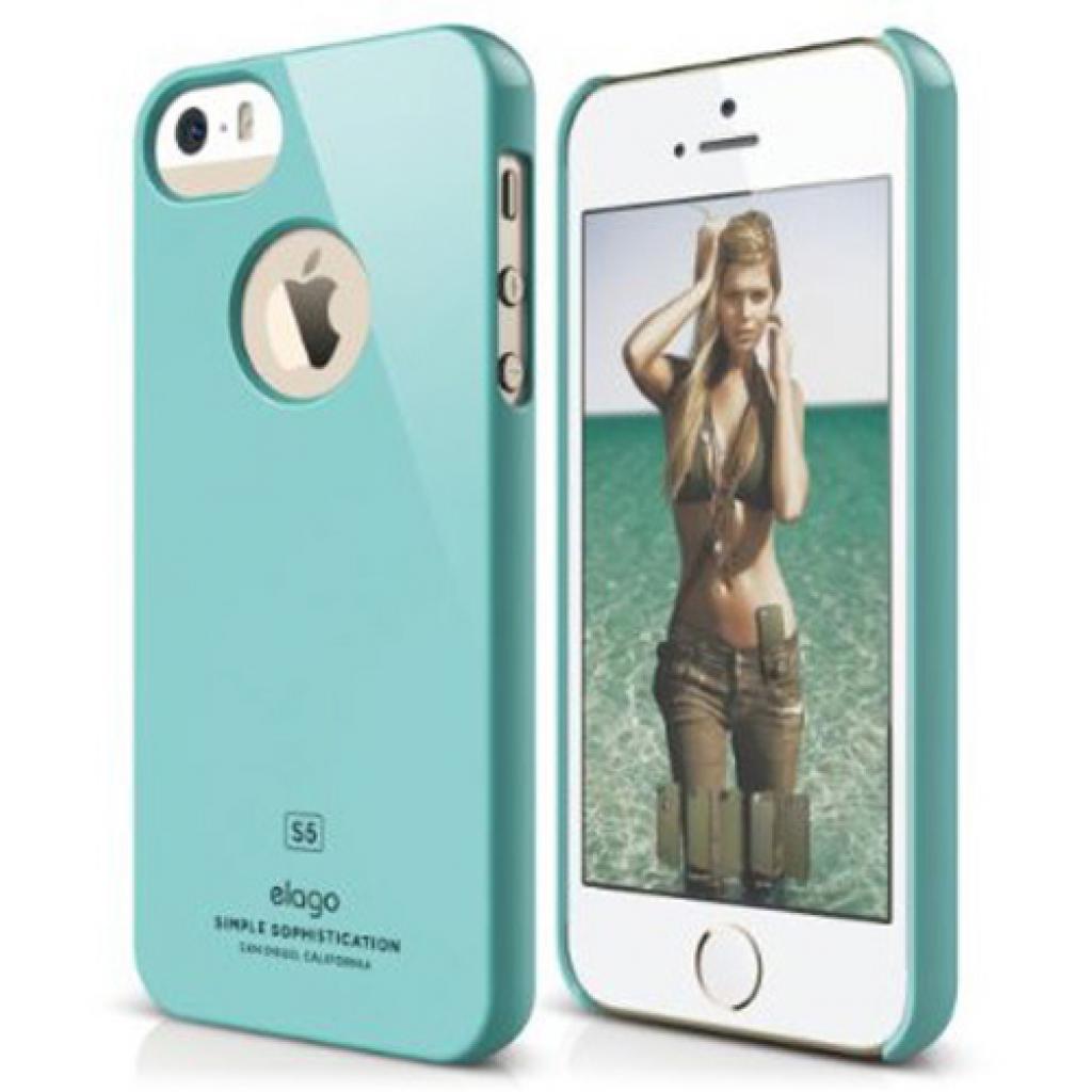 Чехол для моб. телефона ELAGO для iPhone 5/5S /Slim Fit Glossy/Coral Blue (ELS5SM-SFGD-RT)