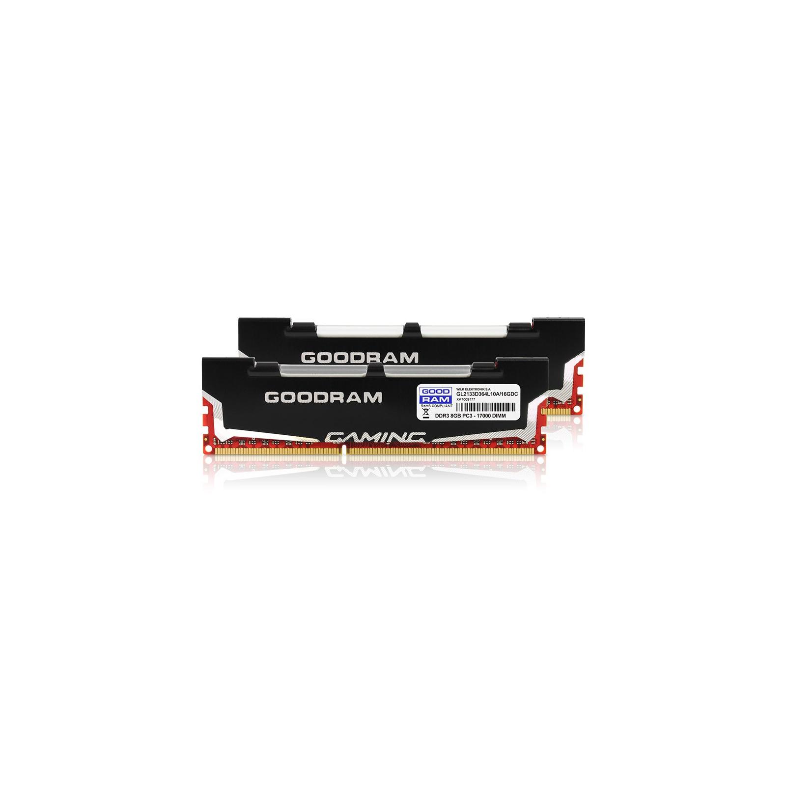 Модуль памяти для компьютера DDR3 16Gb (2x8GB) 2133 MHz Led Gaming GOODRAM (GL2133D364L10A/16GDC) изображение 3