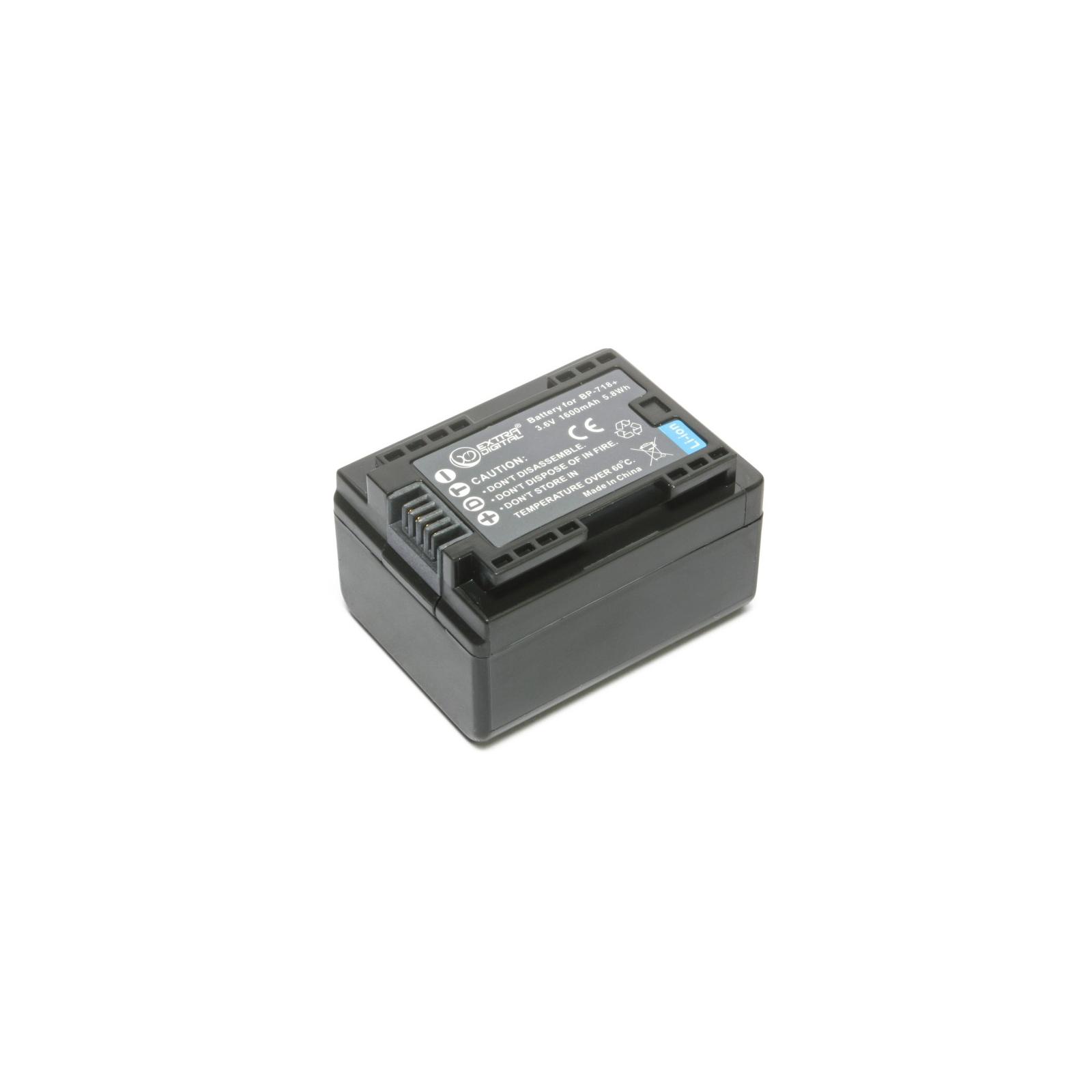 Аккумулятор к фото/видео EXTRADIGITAL Canon BP-718 (chip) (BDC1301) изображение 4
