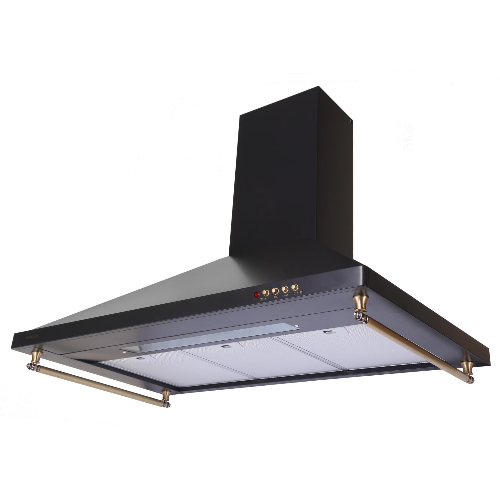 Вытяжка кухонная Faber STRIP EG8 PB BK/BRA A90