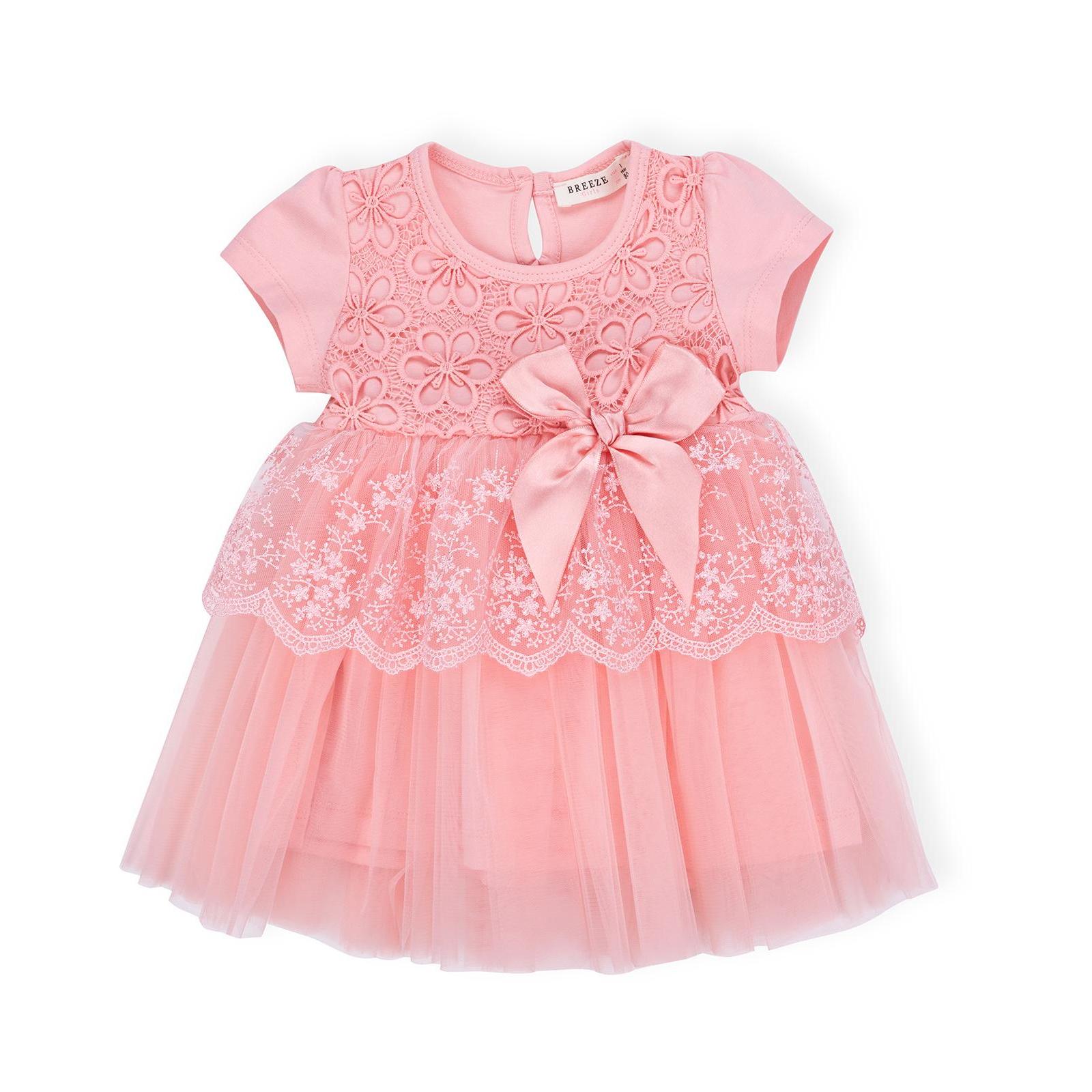 Платье Breeze кружевное с оборками (9011-80G-cream)