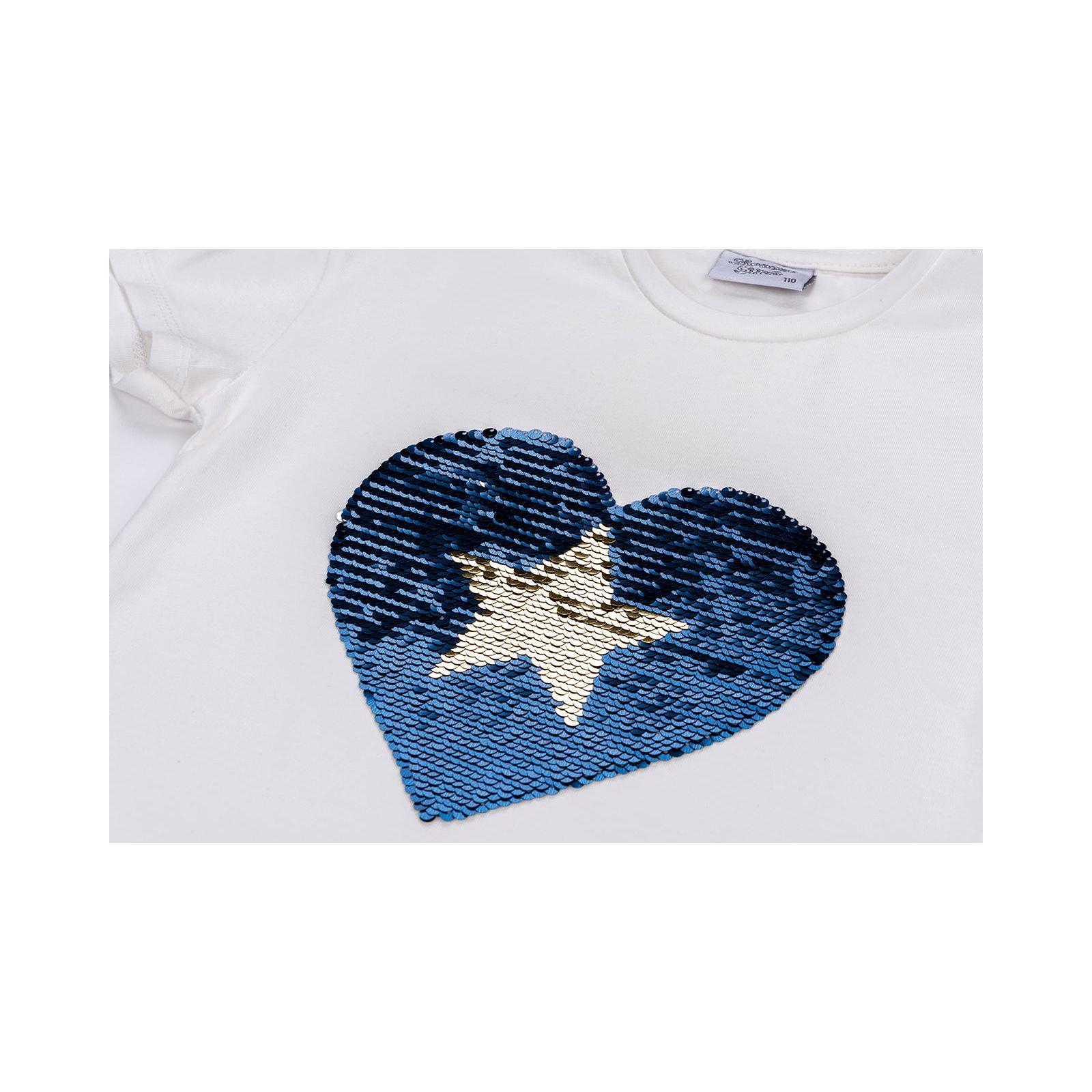 Футболка детская Breeze с сердцем перевертышем (9287-110G-blue) изображение 4