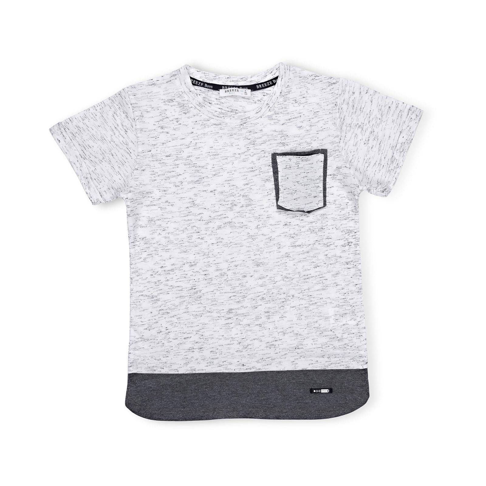 Футболка детская Breeze с карманчиком (11075-140B-gray)