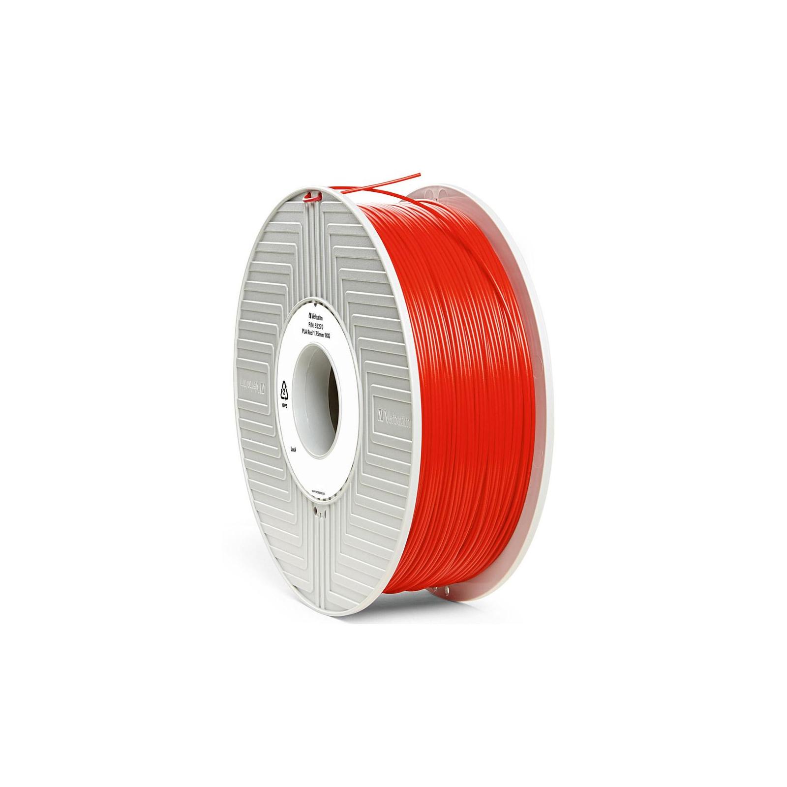 Пластик для 3D-принтера Verbatim PLA 1.75 mm RED 1kg (55270) изображение 2