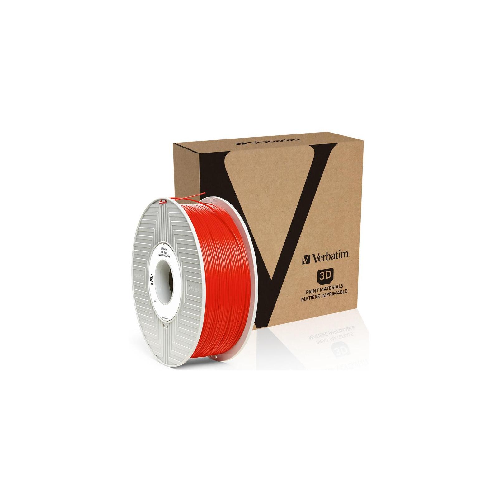 Пластик для 3D-принтера Verbatim PLA 1.75 mm RED 1kg (55270) изображение 3