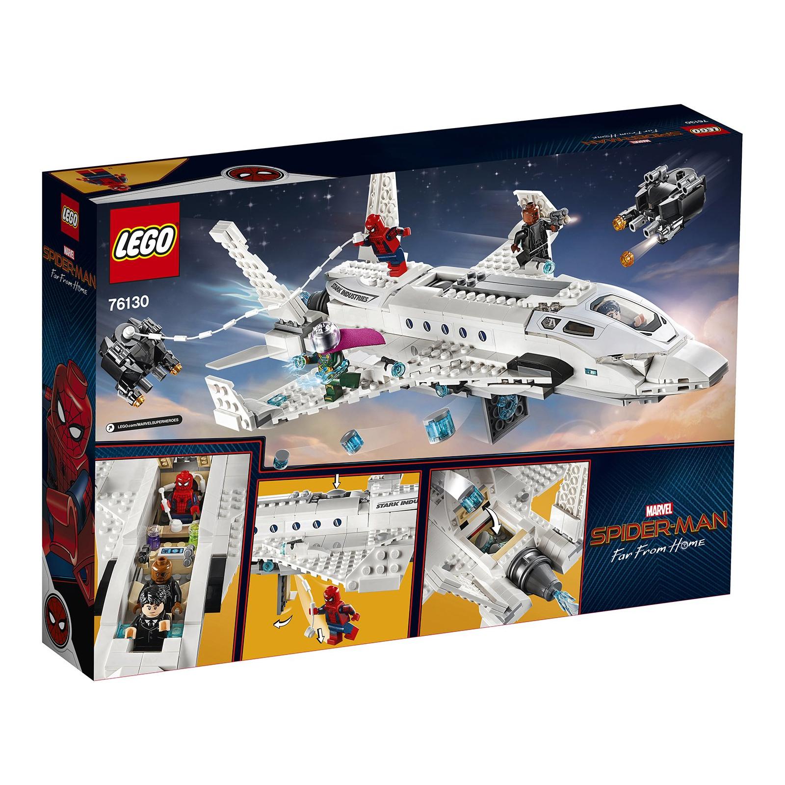Конструктор LEGO Super Heroes Реактивный самолёт Старка и атака дрона (76130) изображение 10