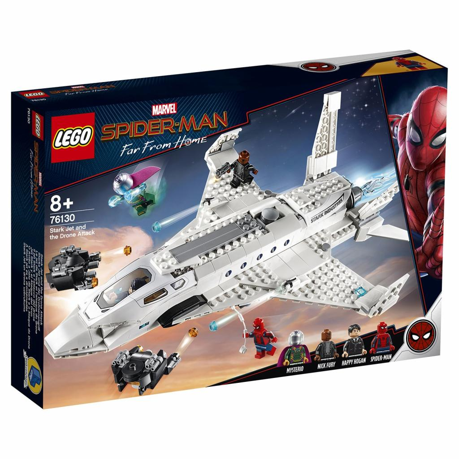 Конструктор LEGO Super Heroes Реактивный самолёт Старка и атака дрона (76130)