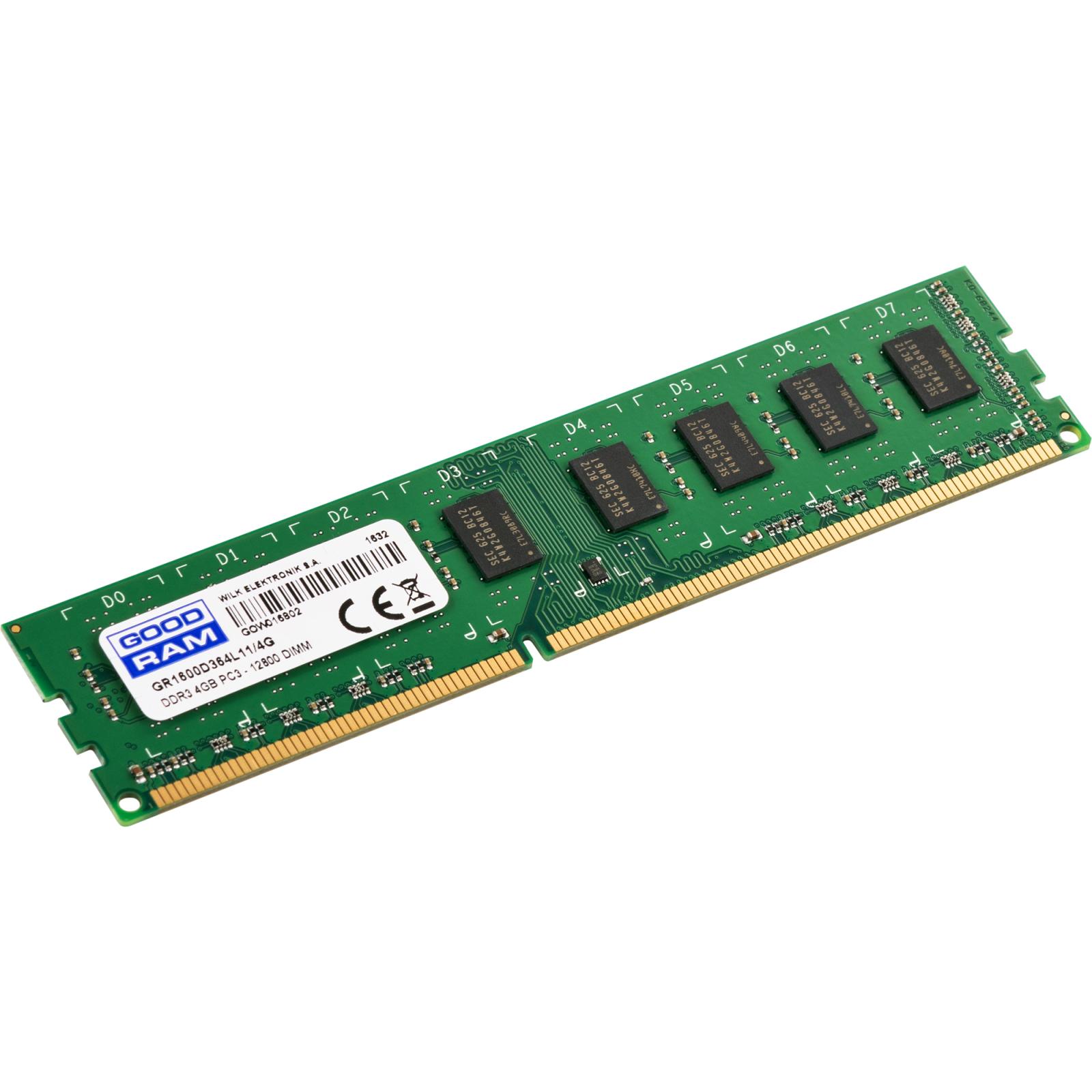 Модуль памяти для компьютера DDR3 4GB 1600 MHz GOODRAM (GR1600D364L11/4G) изображение 2